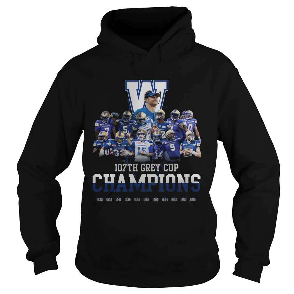 107th Grey Cup Blue Bombers Champions  Hoodie