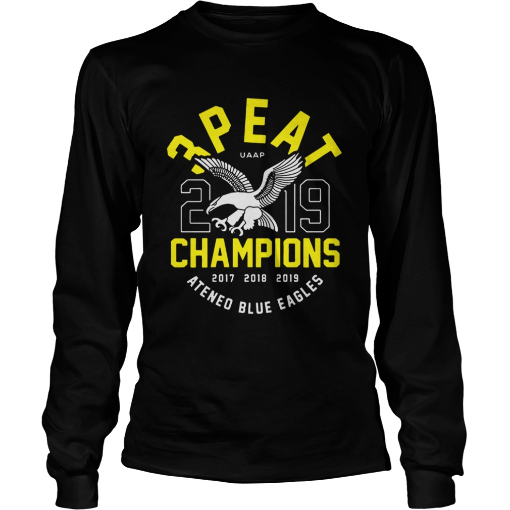 3peat UAAP 2019 Champion Ateneo Blue Eagles  LongSleeve