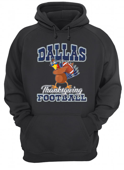 Dallas Cowboys Thanksgiving Day Turkey Playing Football  Unisex Hoodie