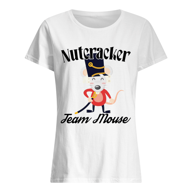 Nutcracker Soldier Toy Christmas Team Mouse  Classic Women's T-shirt
