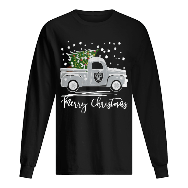 Oakland Raiders Truck Merry Christmas  Long Sleeved T-shirt