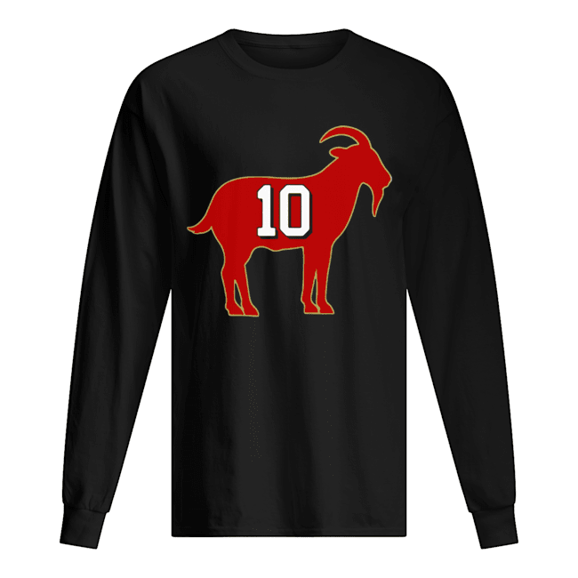 San Francisco 49ers Jimmy Garoppolo 10 Goat  Long Sleeved T-shirt