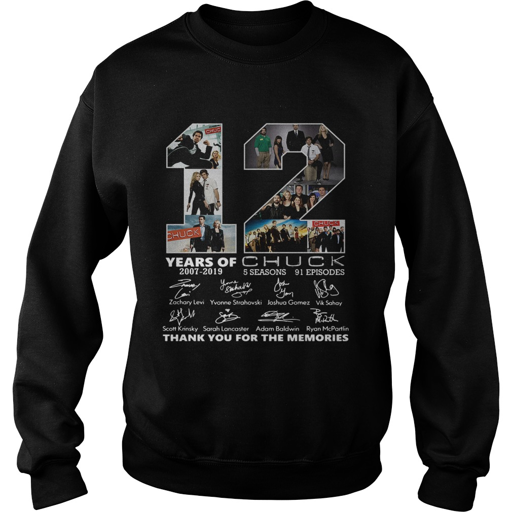 12 Years of Chuck thank you for the memories  Sweatshirt