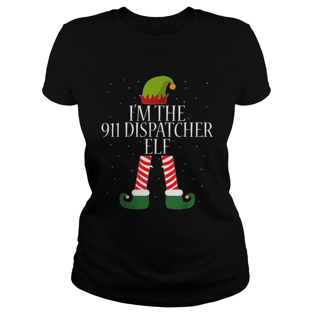 911 Dispatcher Elf Funny Christmas Elves  Classic Ladies
