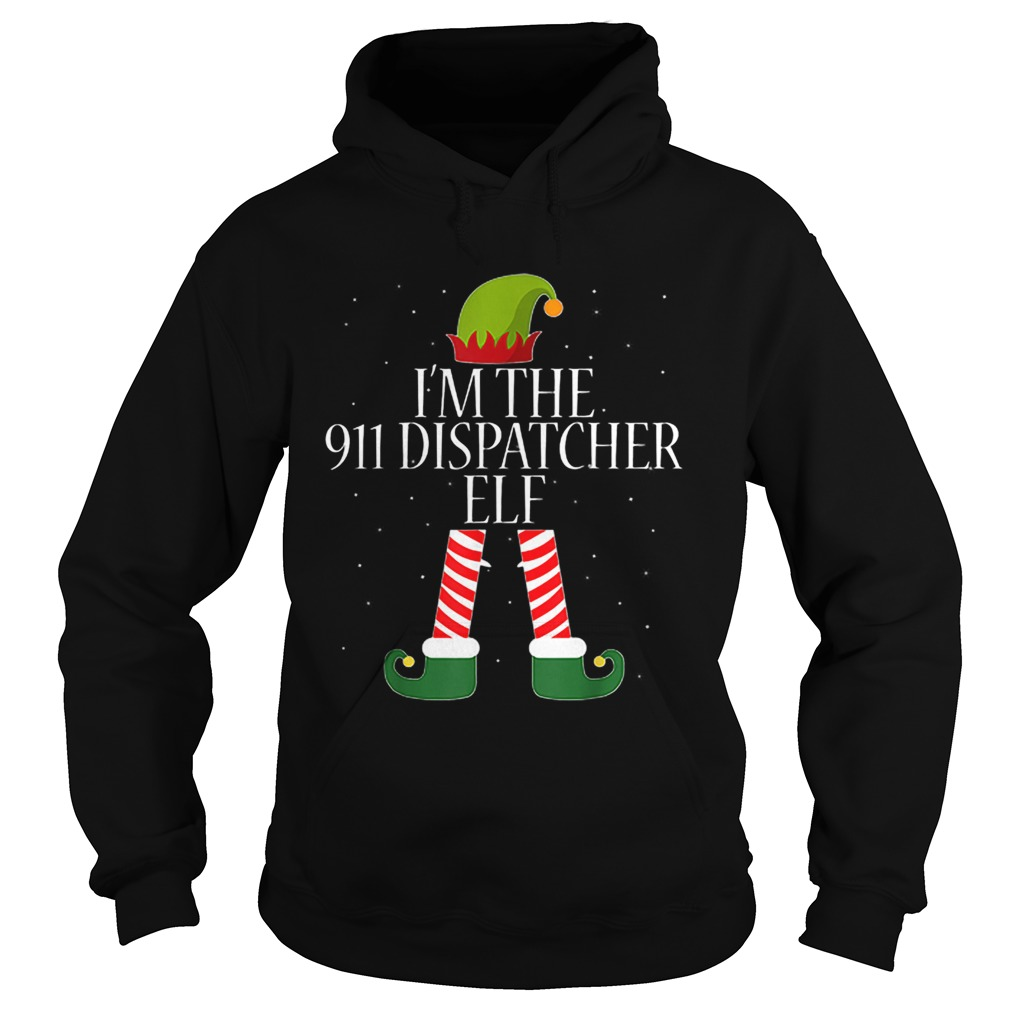 911 Dispatcher Elf Funny Christmas Elves  Hoodie