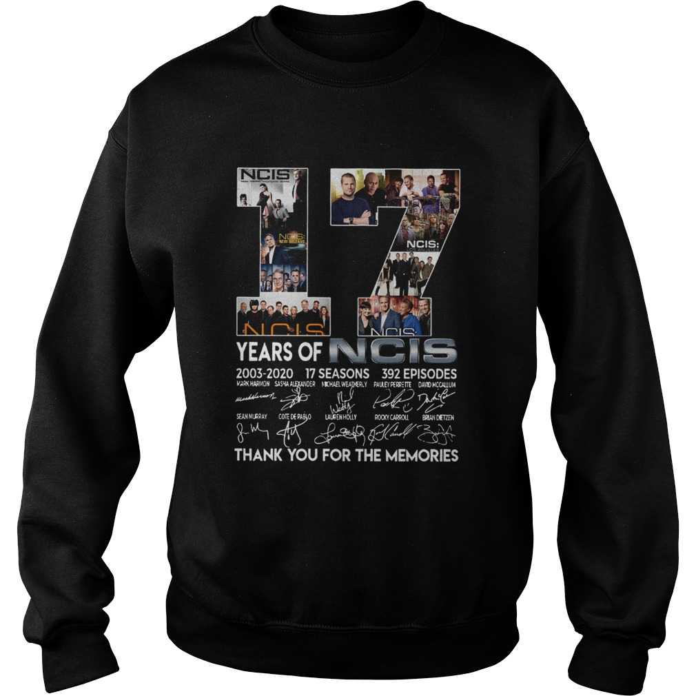 17 Years Of NCIS Thank You For The Memories  Sweatshirt