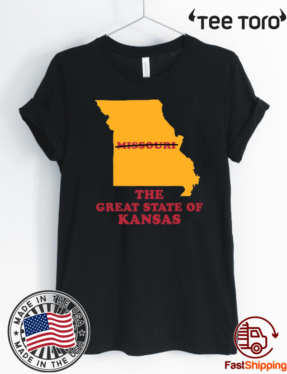 The Great State of Kansas Missouri Shirt
