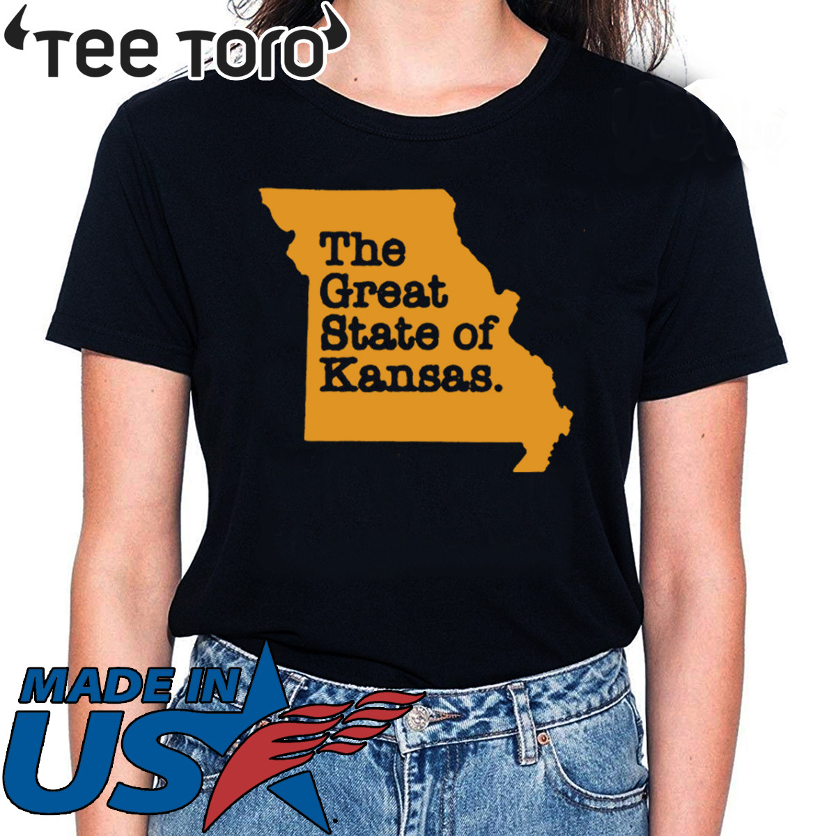 The Great State Of Kansas T-Shirt Limited Edition