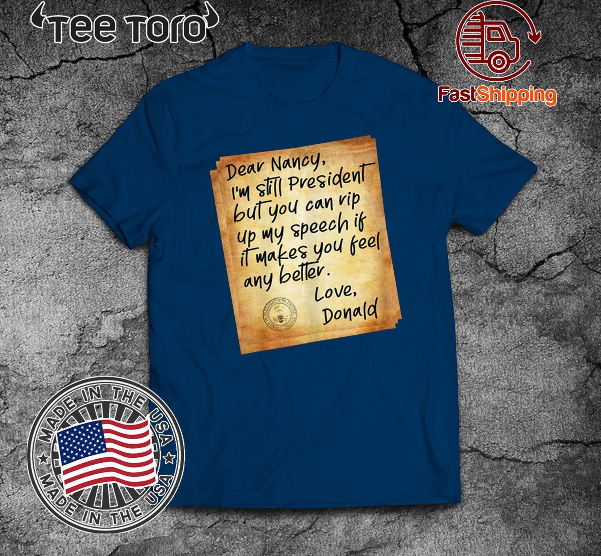 Political Humor Letter To Pelosi Shirt - President Donald Trump Acquitted T-Shirt