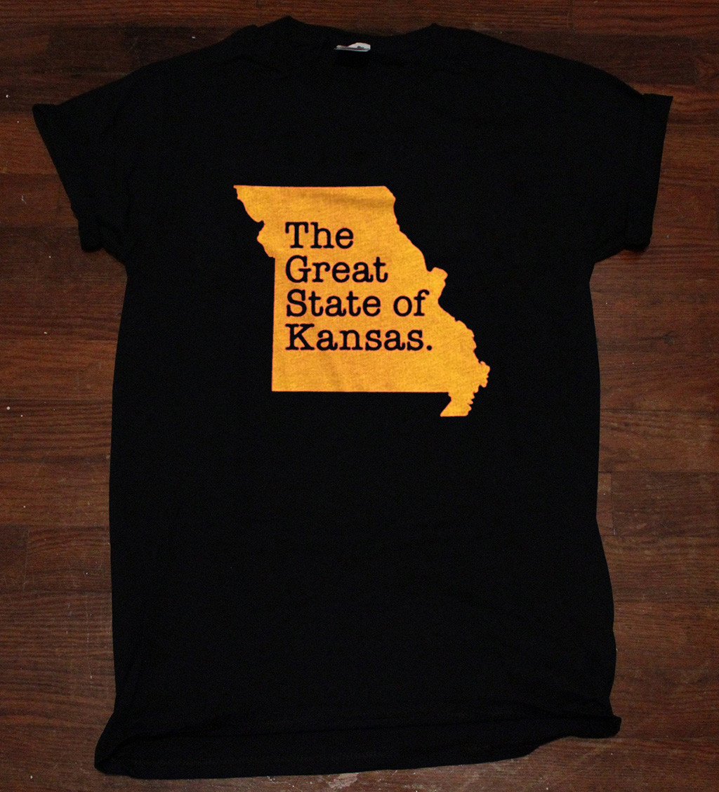 The Great State Of Kansas Tee Shirts