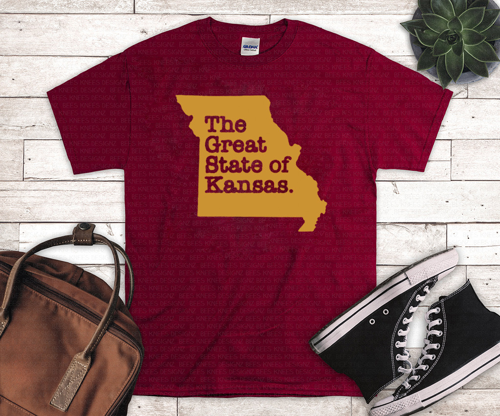 THE GREAT STATE OF KANSAS SHIRT - KANSAS CITY CHIEFS T-SHIRT