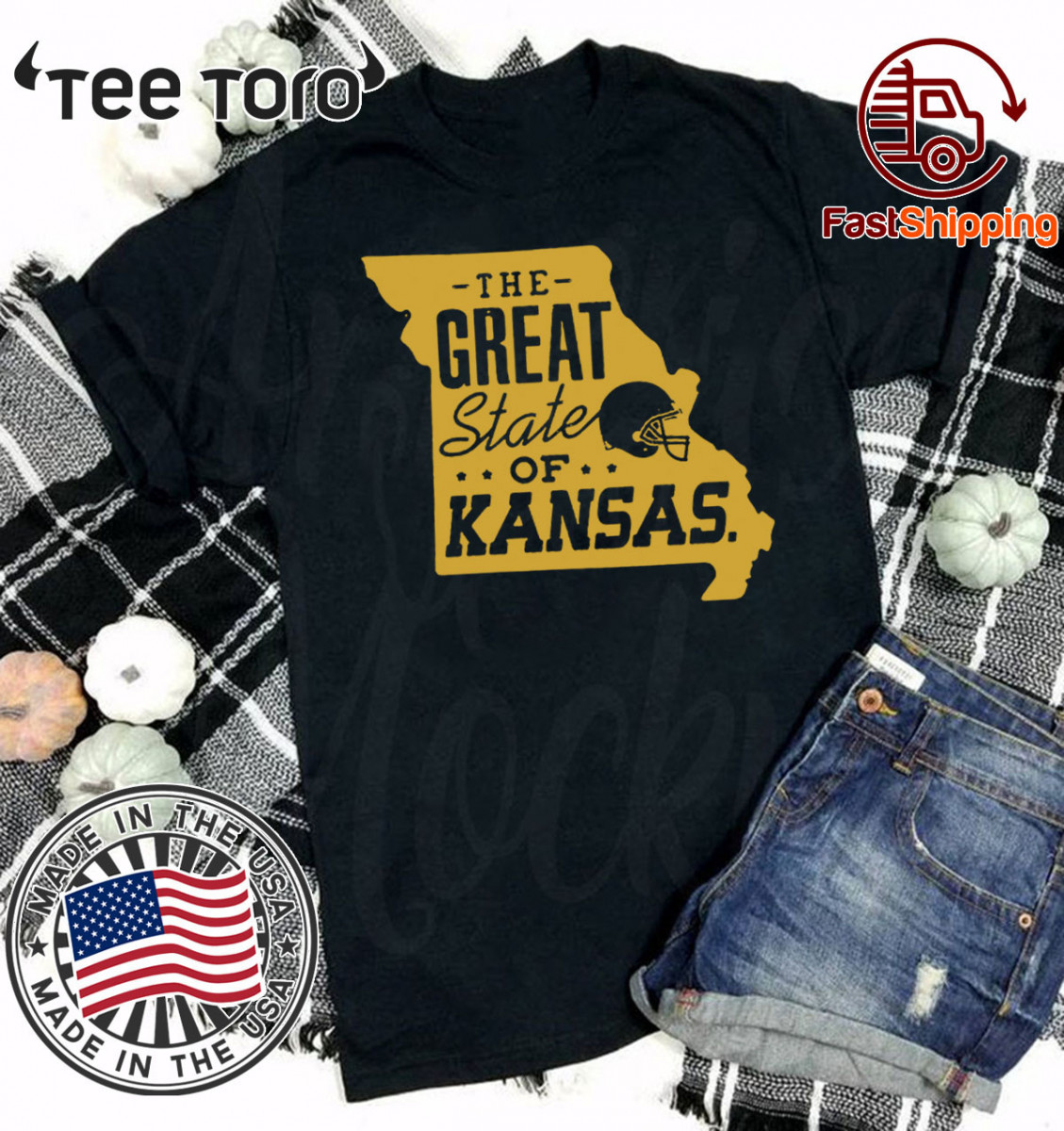 the great state of kansas Kansas city football Shirt