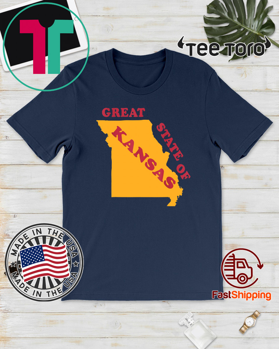The Great State of Kansas Missouri Marker Correction Shirt