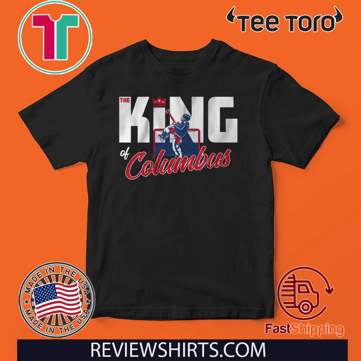 The King of Columbus Columbus Hockey Shirt