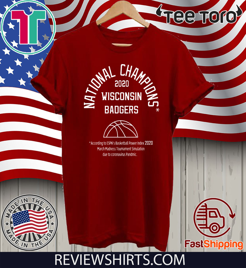 2020 NATIONAL CHAMPIONS SHIRTS - WISCONSIN BADGERS