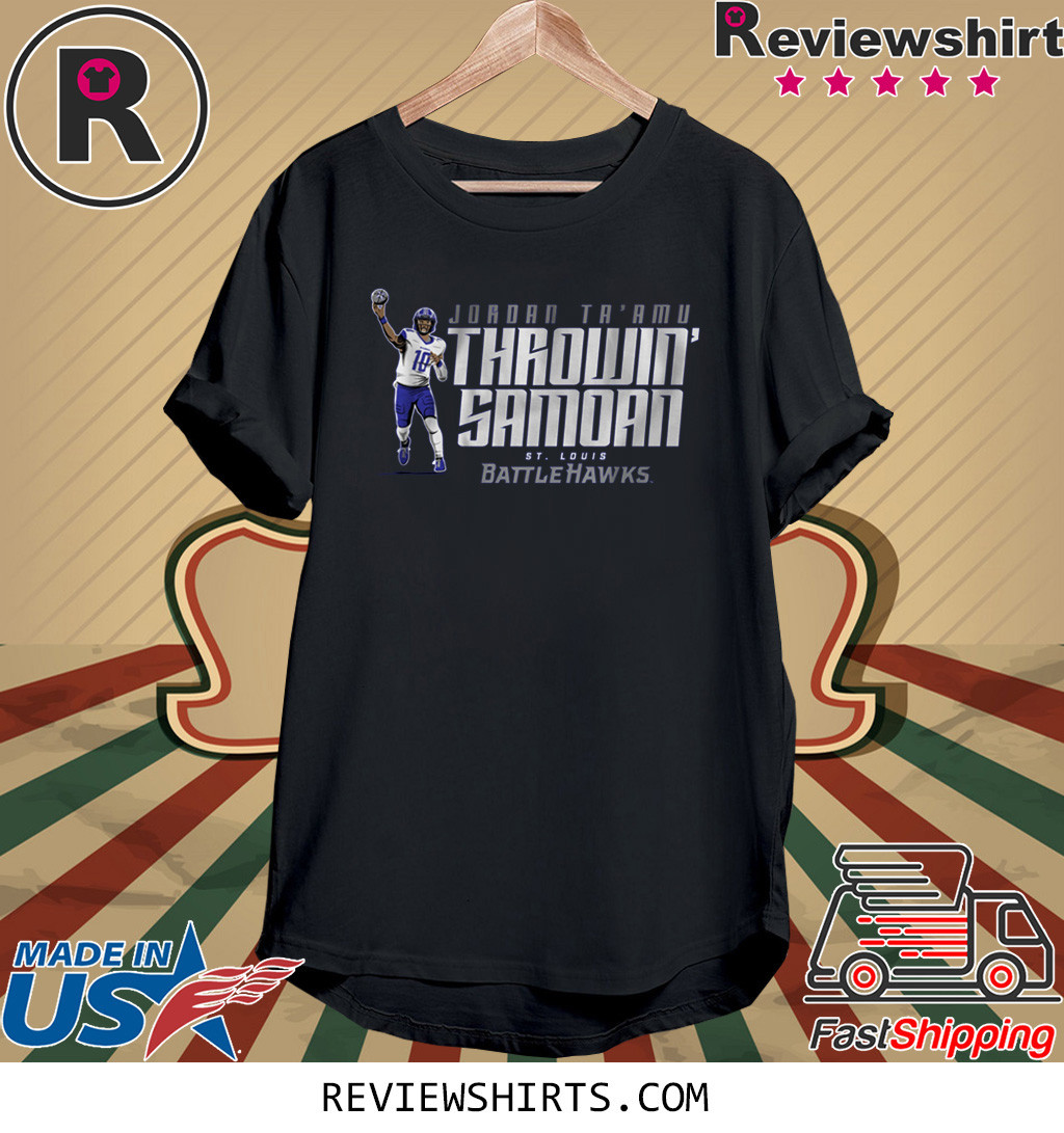 THROWIN SAMOAN T-Shirt St. Louis Battlehawks