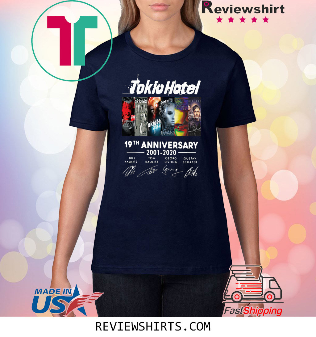 TOKIO HOTEL 19TH ANNIVERSARY 2001 2020 THANK YOU FOR THE MEMORIES T-SHIRT
